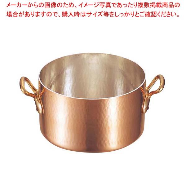 ムヴィエール 銅 半寸胴鍋(蓋無)2151-28 28cm【 ガス専用鍋 】 【厨房館】