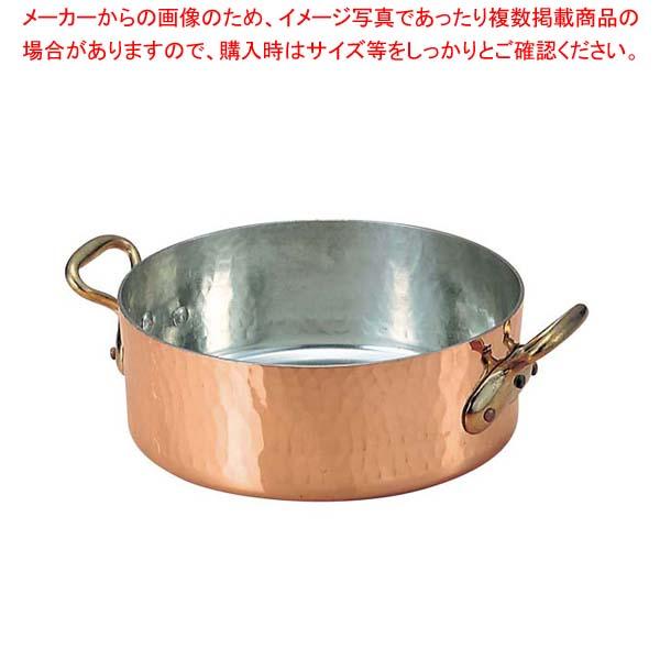ムヴィエール 銅 平鍋(蓋無)2152-28 28cm【 ガス専用鍋 】 【厨房館】