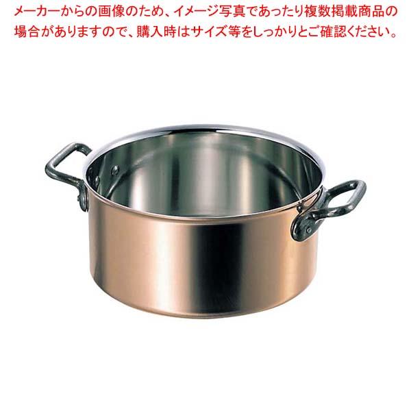 マトファー/ブウジャ 半寸胴 3670-28cm ステン/銅【 ガス専用鍋 】 【厨房館】