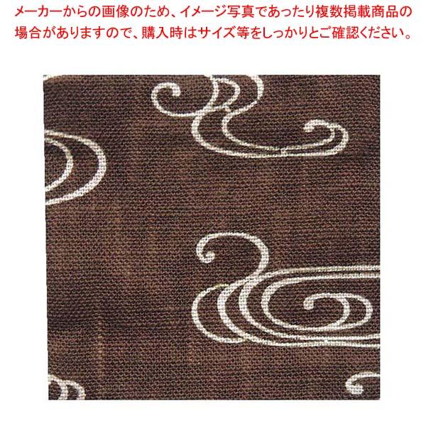 【まとめ買い10個セット品】 【 業務用 】和風コースター(10枚入)B0046 観世水 茶