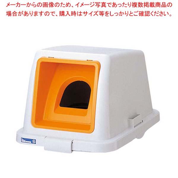 【まとめ買い10個セット品】カラー分類ボックス70L フタ ビンカン用 オレンジ(イエロー)【 清掃・衛生用品 】 【厨房館】
