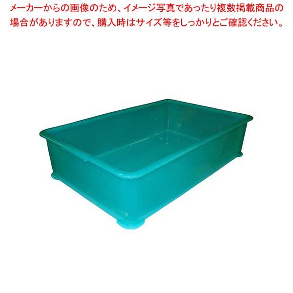 【まとめ買い10個セット品】 【 業務用 】【 即納 】 EBM PP半透明カラー番重 A型 大 グリーン(サンコー製)
