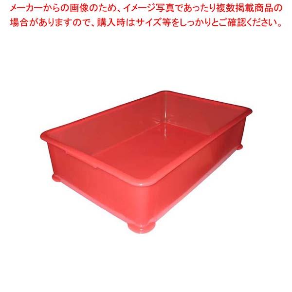 【まとめ買い10個セット品】 【 業務用 】【 即納 】 EBM PP半透明カラー番重 A型 大 レッド(サンコー製)