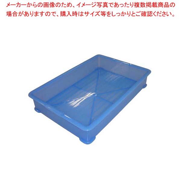 【まとめ買い10個セット品】 【 業務用 】【 即納 】 EBM PP半透明カラー番重 A型 小 ブルー(サンコー製)