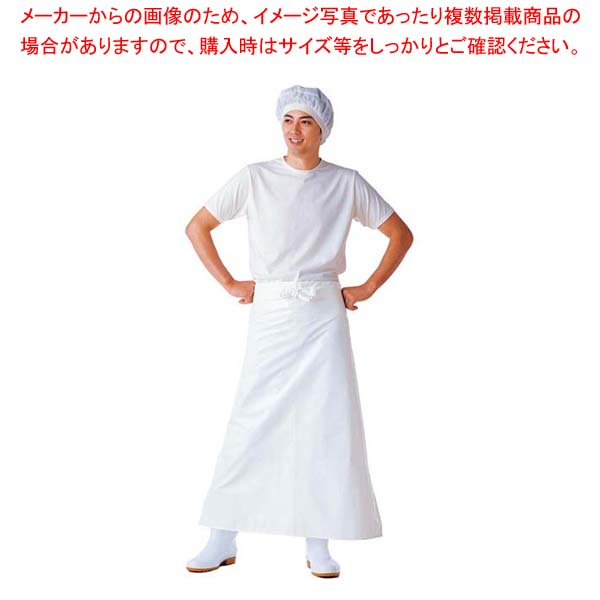 【まとめ買い10個セット品】 【 業務用 】マイティクロス エプロン 腰下 E-1002-0 ホワイト M