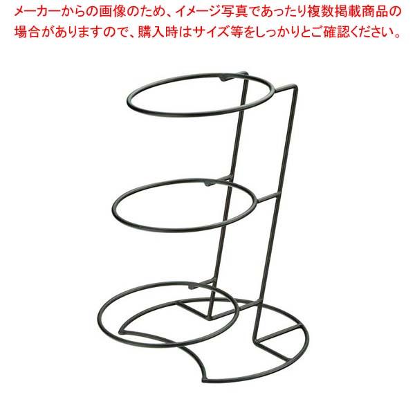【まとめ買い10個セット品】 【 業務用 】アイアン 傾斜 3段 ディスプレイベース 25941