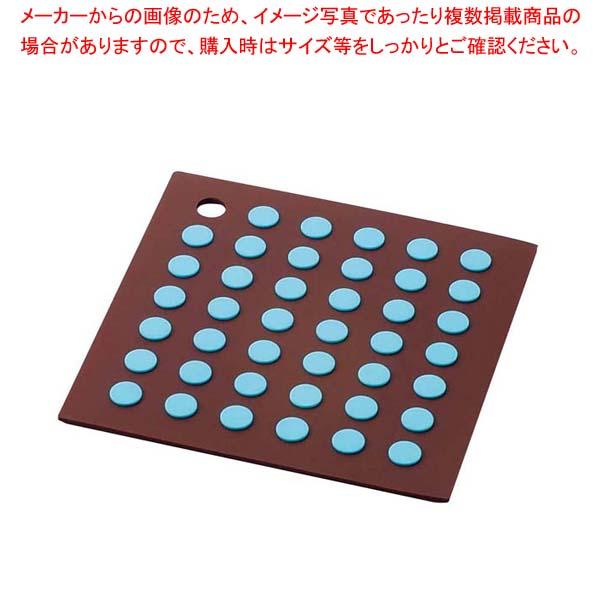 【まとめ買い10個セット品】シリコン 鍋しき 茶/青 SIG-15【 卓上鍋・焼物用品 】 【厨房館】