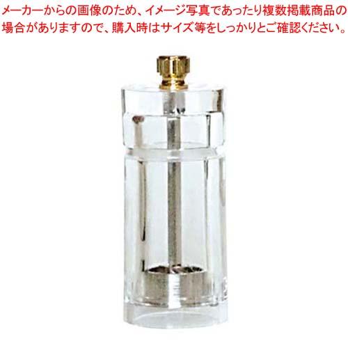 【まとめ買い10個セット品】IKEDA アクリル ペパーミル(円筒型)APM-100【 卓上小物 】 【厨房館】