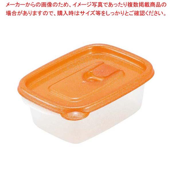 【まとめ買い10個セット品】ミューファン スマートフラップ角型(S)2個入オレンジ A-040 MO【 ストックポット・保存容器 】 【厨房館】