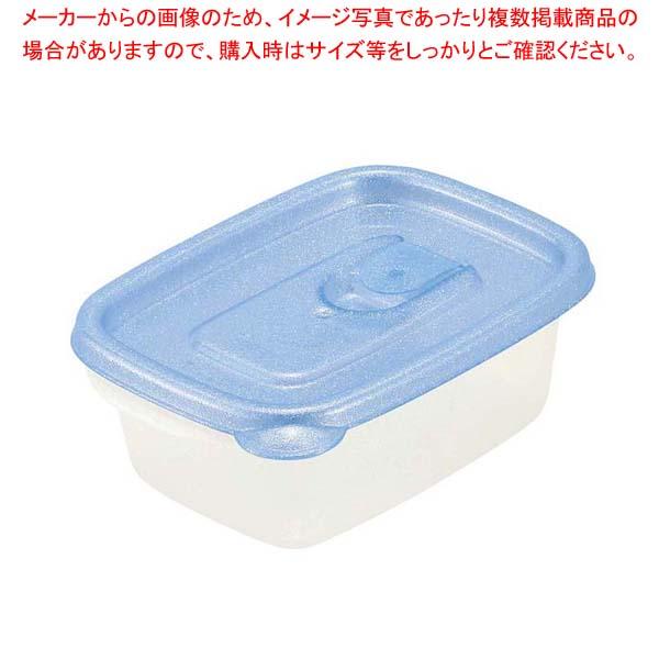 【まとめ買い10個セット品】ミューファン スマートフラップ角型(S)2個入ブルー A-040 MB【 ストックポット・保存容器 】 【厨房館】