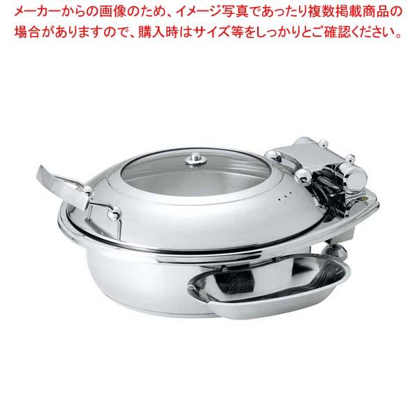 丸型スマートチューフィング(ガラス蓋仕様)L 15301【 ビュッフェ関連 】 【厨房館】