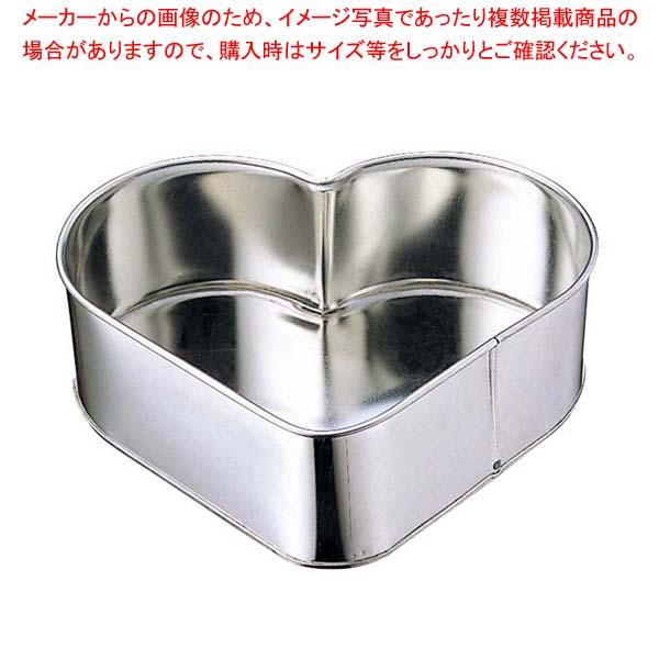 【まとめ買い10個セット品】 【 業務用 】ブリキ ハート デコレーション型 小(5寸)