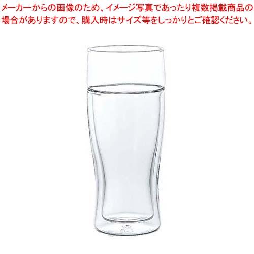 【まとめ買い10個セット品】 【 業務用 】ハリオ ツインビアグラス TBG-380