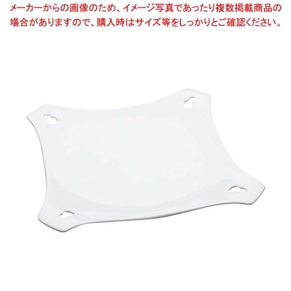 【まとめ買い10個セット品】 【 業務用 】アルセラム 白変形 透かし四方皿 EC12-38