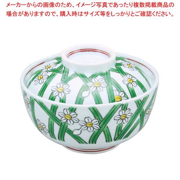 【まとめ買い10個セット品】 【 業務用 】アルセラム強化食器 水仙画蓋物 EC3-47