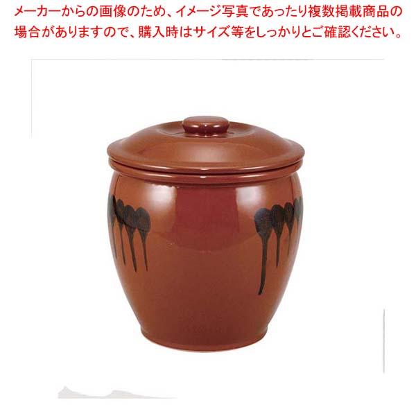 【まとめ買い10個セット品】 【 業務用 】蓋付 半胴瓶 3号 5.4L 紅星窯