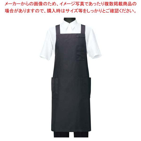 【まとめ買い10個セット品】エプロン CT2566-9 ブラック L【 ユニフォーム 】 【厨房館】