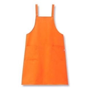 【まとめ買い10個セット品】 【 業務用 】きれいなエプロン(光触媒加工)FR-9000 オレンジ