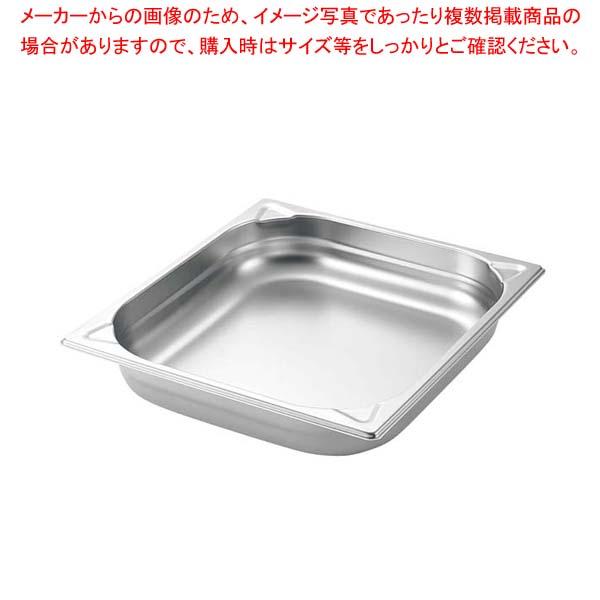 【まとめ買い10個セット品】 【 業務用 】プロシェフ 18-8 GNパン補強重なり防止付 2/3 65mm