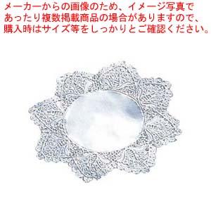 【まとめ買い10個セット品】ドイリー レースペーパー 丸型 銀(500枚入)8号【 厨房消耗品 】 【厨房館】