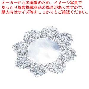 【まとめ買い10個セット品】 【 業務用 】ドイリー レースペーパー 丸型 銀(500枚入)10号