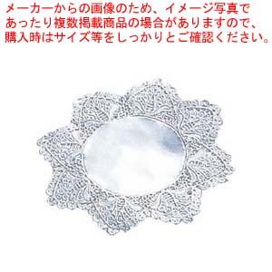 【まとめ買い10個セット品】 【 業務用 】ドイリー レースペーパー 丸型 銀(500枚入)14号