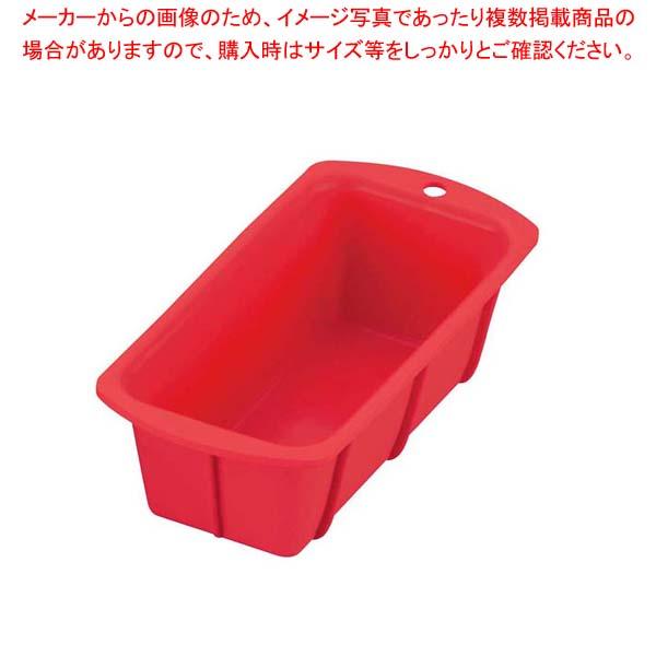 【まとめ買い10個セット品】 【 業務用 】シリコン パウンドケーキ型 CM-03 レッド 17cm
