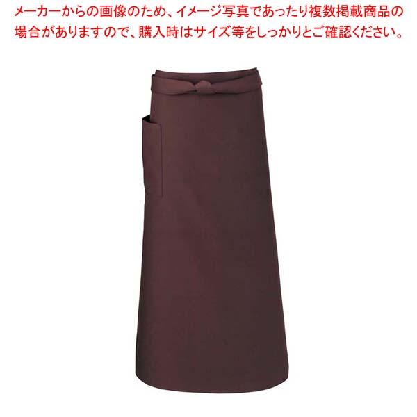【まとめ買い10個セット品】 【 業務用 】ソムリエエプロン T-6233 ブラウン