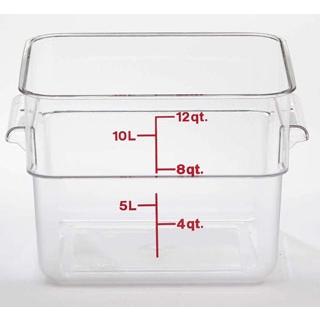 【まとめ買い10個セット品】キャンブロ 角型フードコンテナークリアー 12SFSCW 【厨房館】