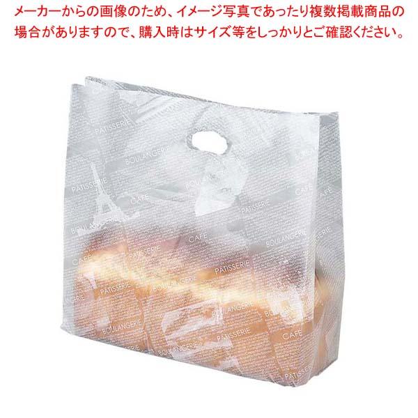 【まとめ買い10個セット品】 【 業務用 】フランス文字柄 ポリエチレン パン袋(100枚入)HD-70L 大