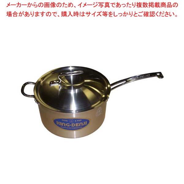 【まとめ買い10個セット品】 【 業務用 】ニューキングデンジ 深型片手鍋(目盛付)27cm
