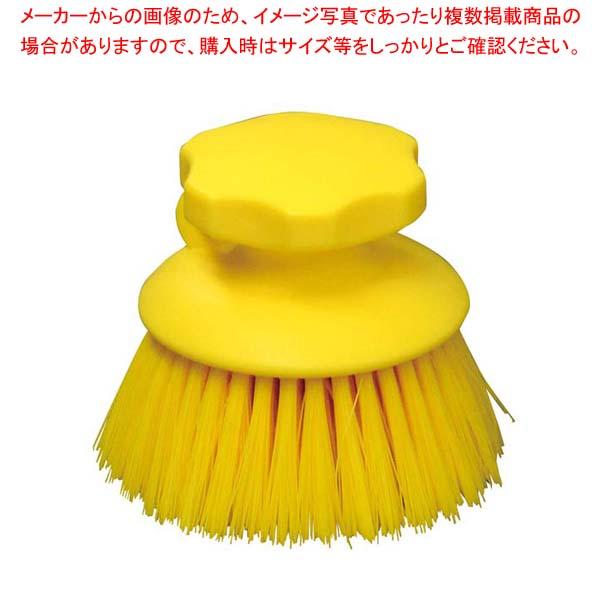 【まとめ買い10個セット品】 【 業務用 】HPハンドブラシ 丸型 イエロー 55863