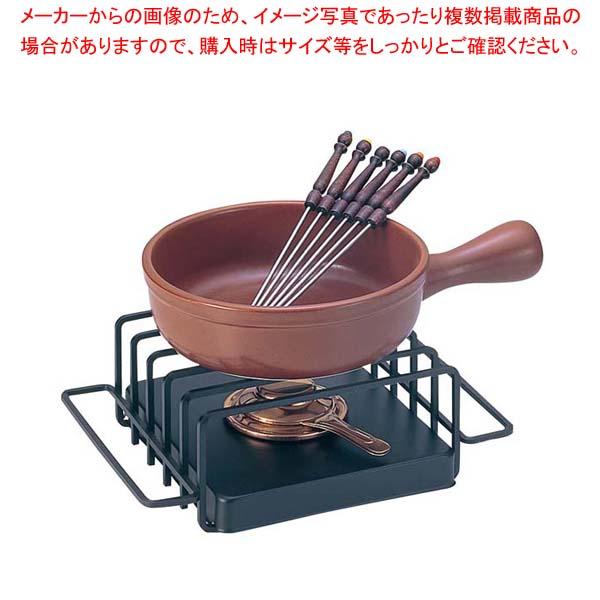 【まとめ買い10個セット品】 【 業務用 】チーズフォンデュセット T-210 陶器鍋付