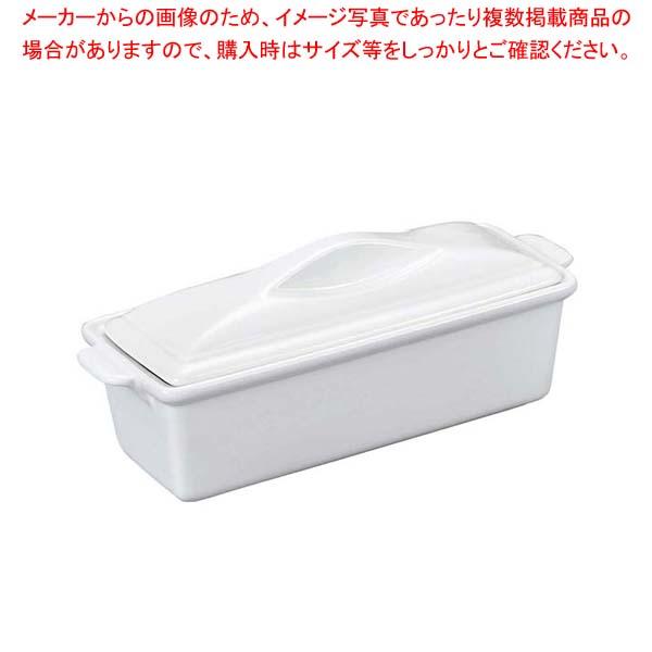 陶器製 ホワイトテリーヌ L【 オーブンウェア 】 【厨房館】