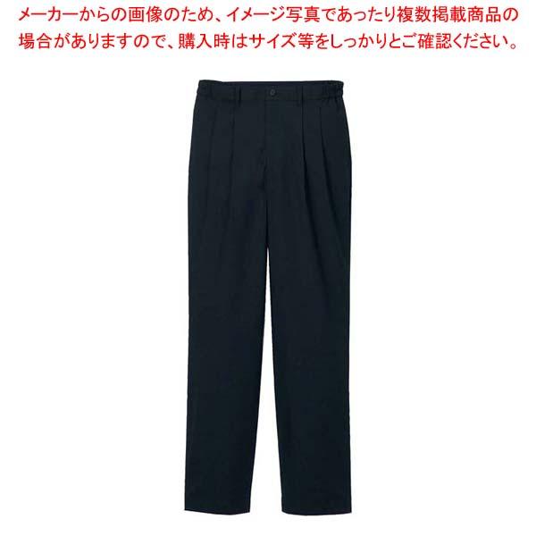 【まとめ買い10個セット品】ツータックパンツ(男性用)KP001M-7 黒 3L【 ユニフォーム 】 【厨房館】