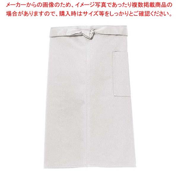 【まとめ買い10個セット品】 【 業務用 】前掛け(長)KE0020-2 灰色