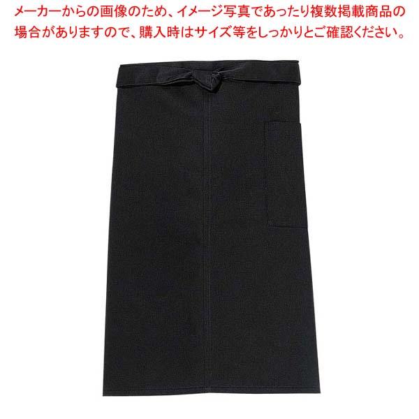 【まとめ買い10個セット品】 【 業務用 】前掛け(長)KE0020-7 黒