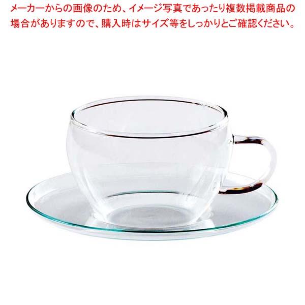 【まとめ買い10個セット品】セレック ガラスカップ&ソーサー クリア GCS-1【 カフェ・サービス用品・トレー 】 【厨房館】
