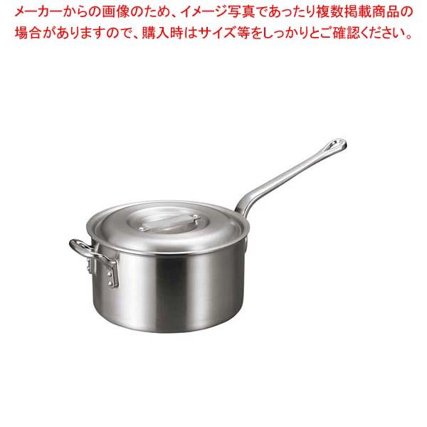 【まとめ買い10個セット品】 【 業務用 】アルミ バリックス 片手鍋(磨き仕上げ)24cm
