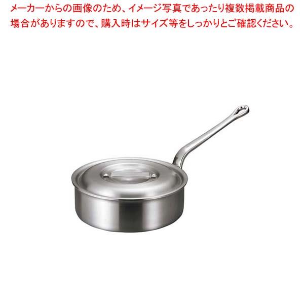 【まとめ買い10個セット品】 【 業務用 】アルミ バリックス 浅型 片手鍋(磨き仕上げ)27cm
