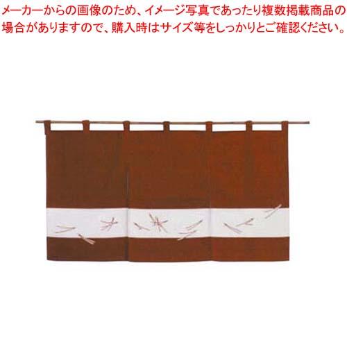 【まとめ買い10個セット品】 【 業務用 】のれん 松葉ちらし 118-02 えび茶 850×450
