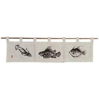 【まとめ買い10個セット品】魚道楽 のれん 128-01W 850×200【 店舗備品・インテリア 】 【厨房館】