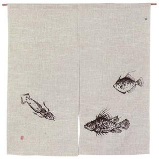 【まとめ買い10個セット品】 【 業務用 】魚道楽 のれん 128-04W 850×900