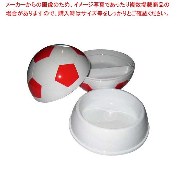 【まとめ買い10個セット品】 【 業務用 】お子様ランチ皿 サッカーボール 大(仕切付)レッド