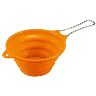 【まとめ買い10個セット品】 【 業務用 】ハンドル付きシリコンストレーナー オレンジ