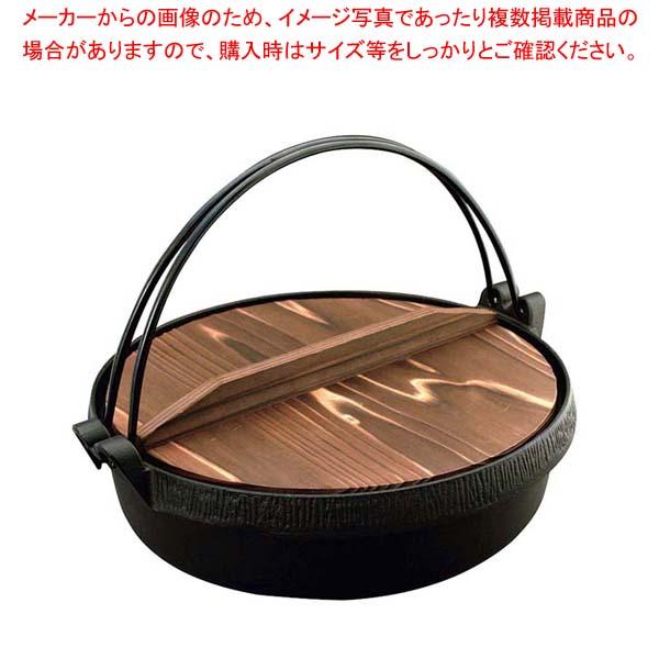 【まとめ買い10個セット品】 【 業務用 】IK 鉄鋳 Sすき鍋 木蓋付 22cm 101170
