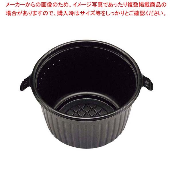 【まとめ買い10個セット品】 【 業務用 】弁当容器 RK-140φ(50枚入)本体 黒