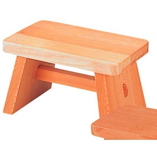 【まとめ買い10個セット品】 【 業務用 】さわら 風呂椅子 大 D-33-07 295×180×175