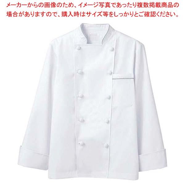 【まとめ買い10個セット品】 【 業務用 】コックコート 6-971 白/グレー M