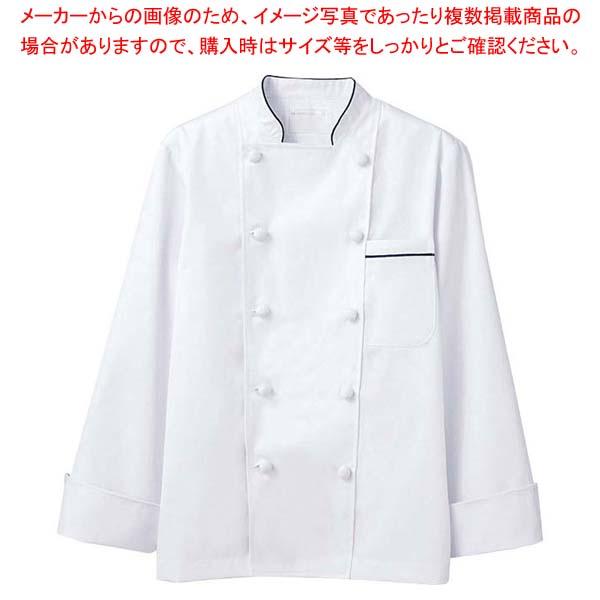 【まとめ買い10個セット品】 【 業務用 】コックコート 6-973 白/黒 L